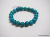 Natural pure turquoise beads bracelet 5.5 inches