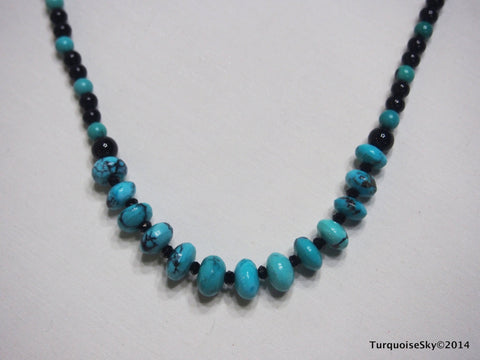 Natural turquoise necklace 29 inches