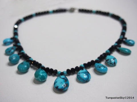 Natural turquoise necklace 18.5 inches