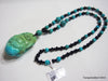 Natural turquoise necklace 23.6 inches