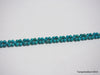 Natural pure turquoise beads bracelet 7 inches