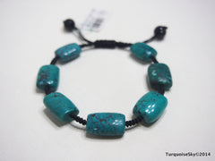 Natural pure turquoise beads bracelet  17.8 grams