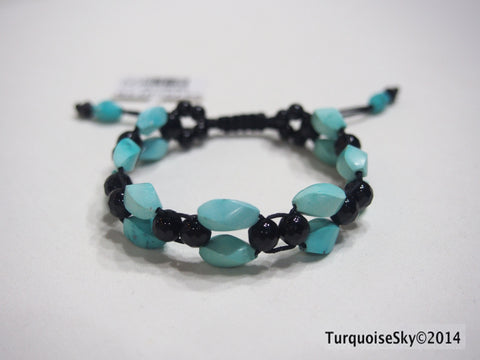 Natural pure turquoise beads bracelet  7.58 grams