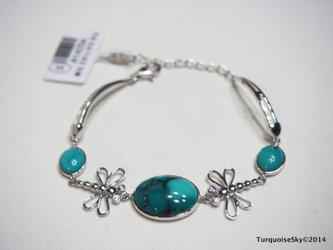 Natural turquoise bracelet 7.5 inches