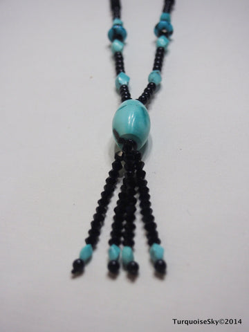 Natural turquoise necklace 26.7 inches