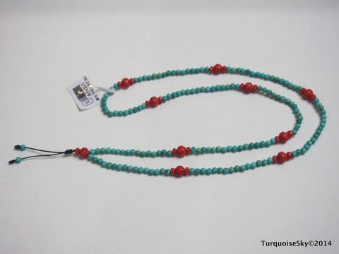 Natural turquoise necklace 24 inches