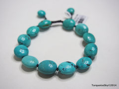 Natural pure turquoise beads bracele