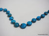 Natural turquoise necklace 16.5 inches