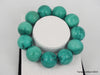 Natural pure turquoise beads bracelet 6.3 inches