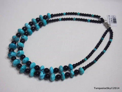Natural turquoise necklace 15.7 inches