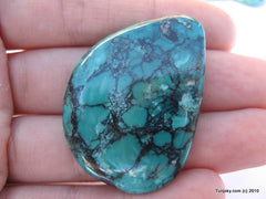 Natural blue turquoise polished pendant 11.5 grams