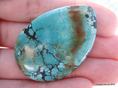 Natural blue turquoise polished pendant 12.8 grams