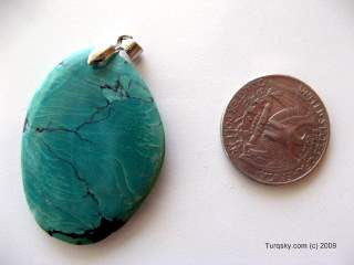 Fan-Shaped Natural turquoise pendant 8.2 grams