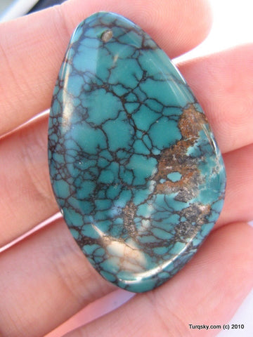 Natural blue turquoise cabochon 10.6 grams