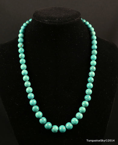 Natural turquoise necklace 17 inches
