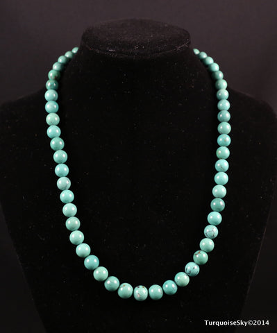 Natural turquoise beads necklace 17.4 inches