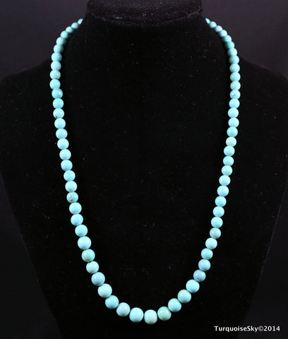 Natural turquoise necklace 19.6  inches