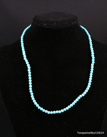 Natural turquoise beads necklace 16 inches