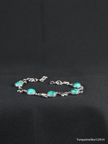 Natural turquoise bracelet 7.4 inches