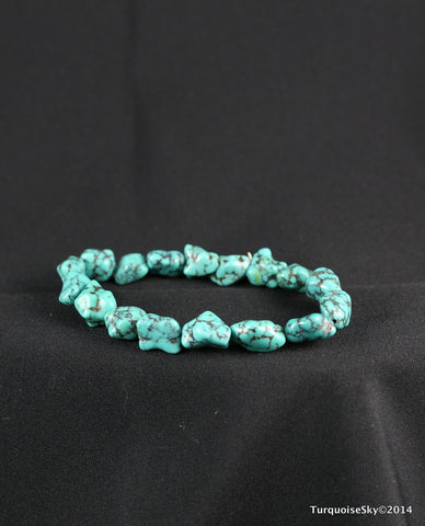 Natural turquoise bracelet 7.6 inches