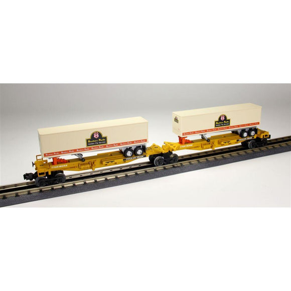 Lionel Southern Pacific T.T.U.X. Flat Car with Trailers