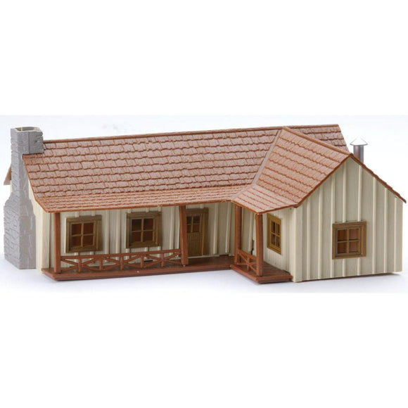 K-Line Country L-Shaped Ranch House Snap Together Building Kit