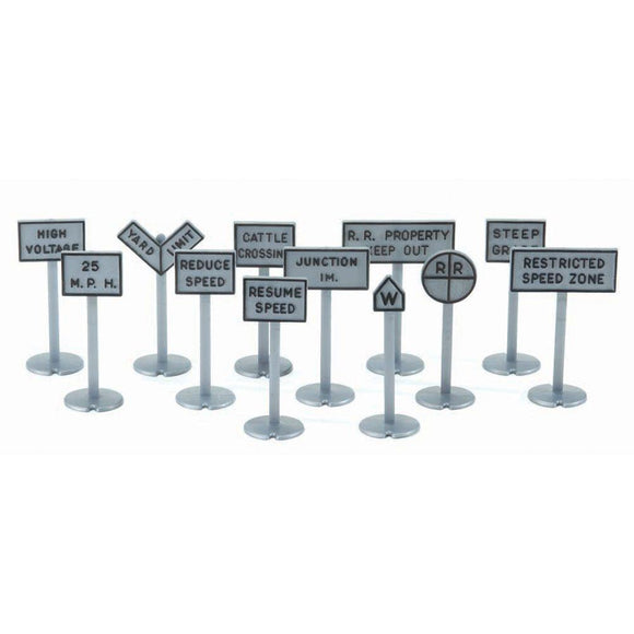 K-Line Railroad Yard Sign Accessory Pack