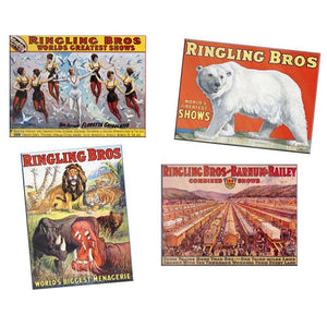 K-Line Ringling Bros Tin Sign Replicas (4)