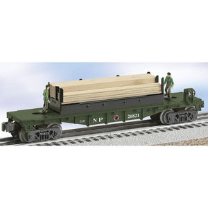 "Lionel Northern Pacific ""Moe and Joe"" Operating Lumber Car"