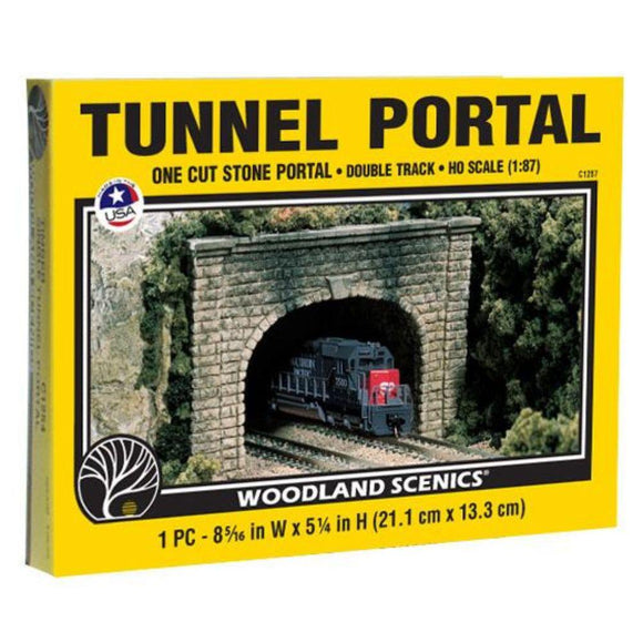 HO Double Track Tunnel Portal