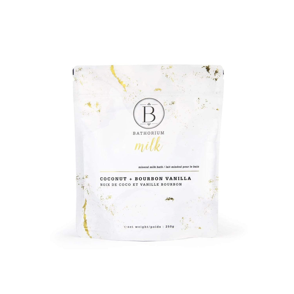 MILK Coconut + Vanilla Mineral Bath Soak Crush Bath Soak Bathorium 1 x 250g
