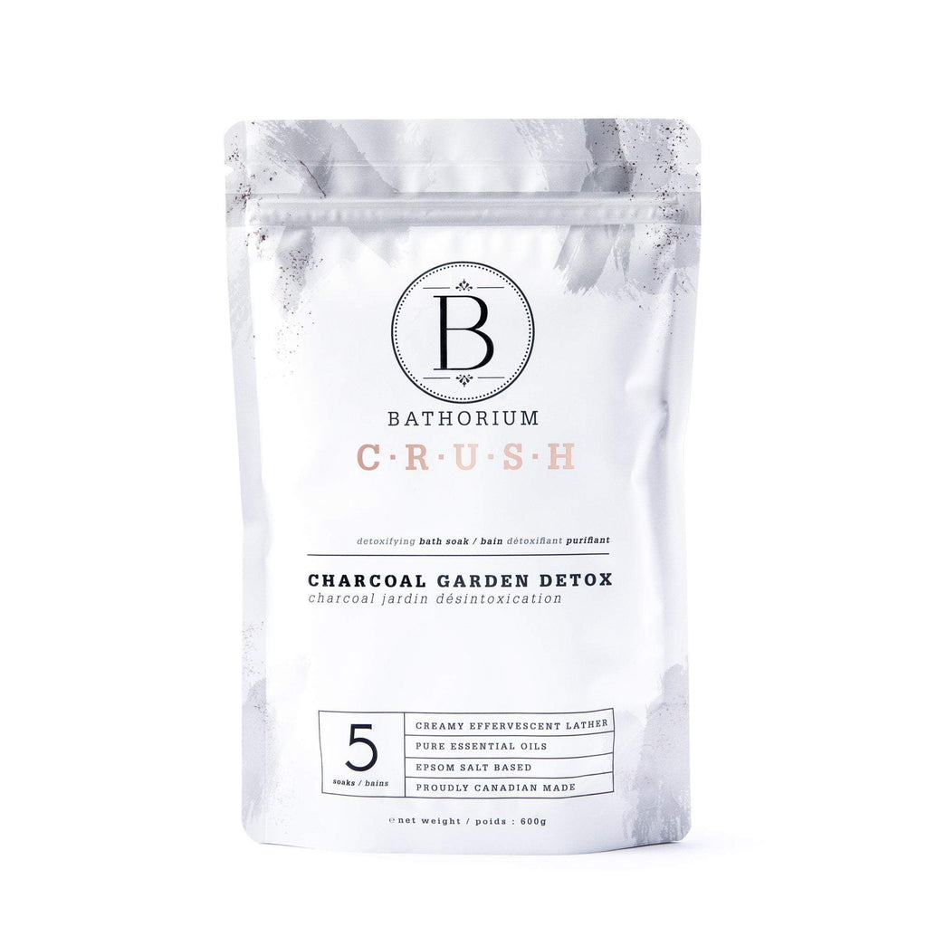 Charcoal Garden Detox CRUSH Crush Bath Soak Bathorium 600g (5 Bath)
