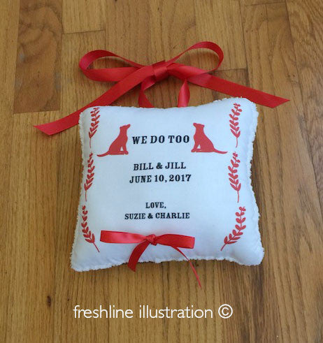 Ring bearer pillow custom ring pillow personalized ring pillow dog ring pillow Thumbnail