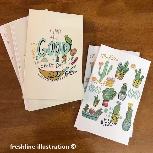 cactus journal, notebook - Freshline Illustration