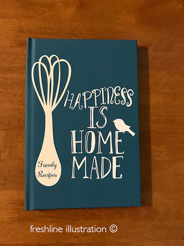 personalized recipe journal for her