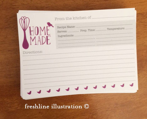 recipe cards, personalized recipe cards, bridal shower recipe Thumbnail