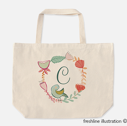 Bridesmaid Gift Ideas, Tote Bag - Freshline Illustration