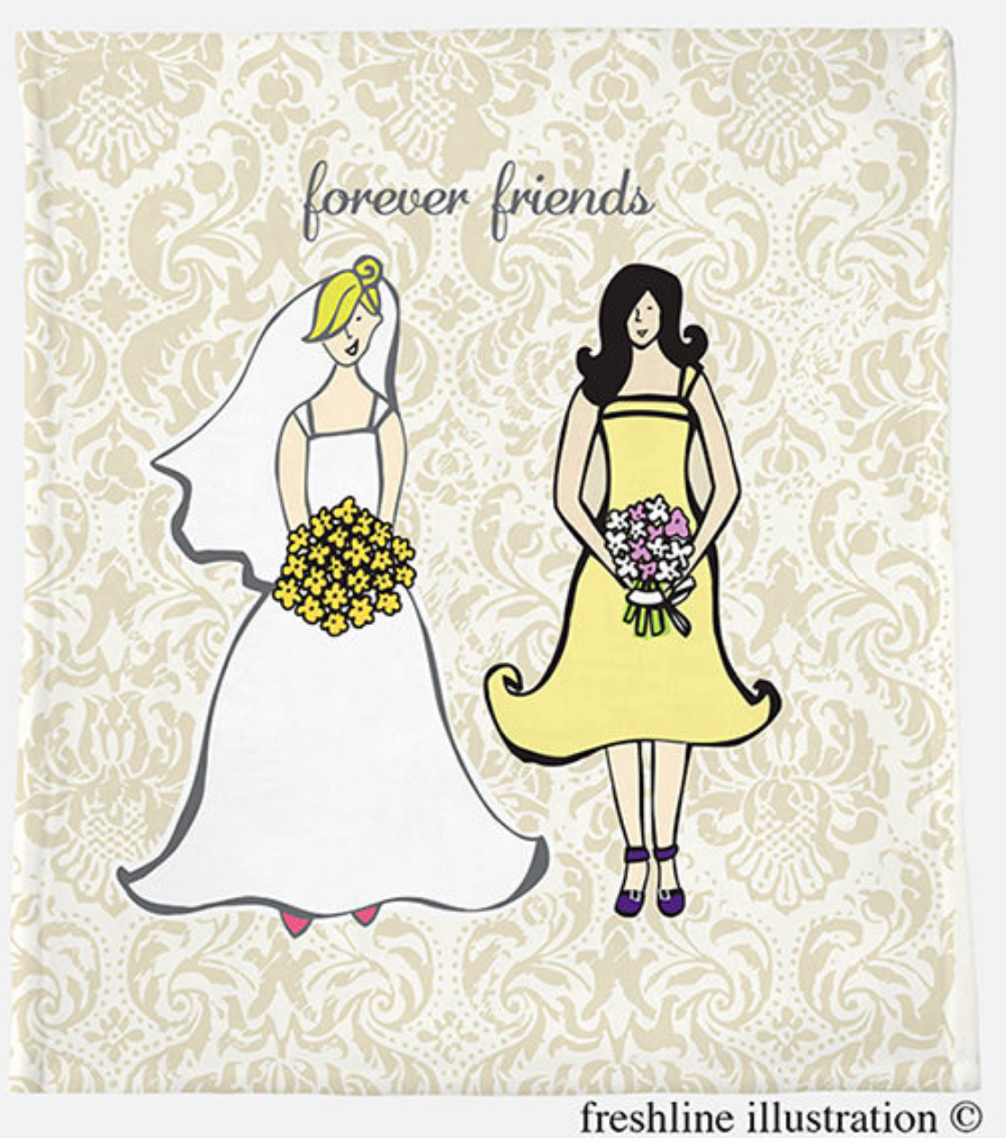 be my bridesmaid gift bridesmaid gift idea bridesmaid blanket - Freshline Illustration