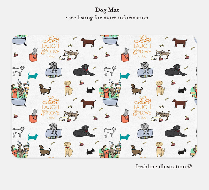 custom pet food mat, pet mat, dog mat