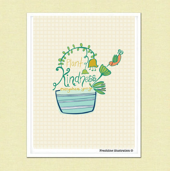 succulent, succulent print, kindness - Freshline Illustration