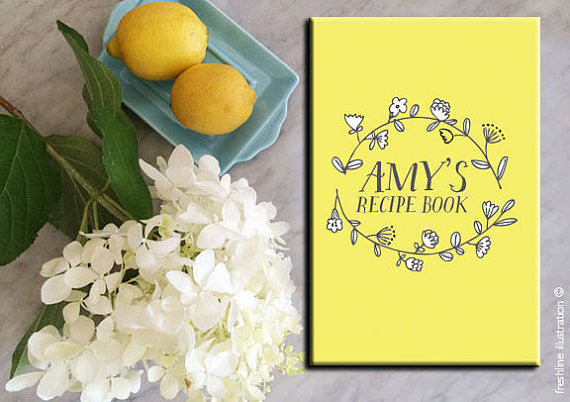 personalized wedding gift recipe book recipe journal
