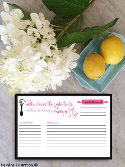 recipe cards, bridal shower recipe, recipes, custom recipe cards, recipe cards, personalized recipe