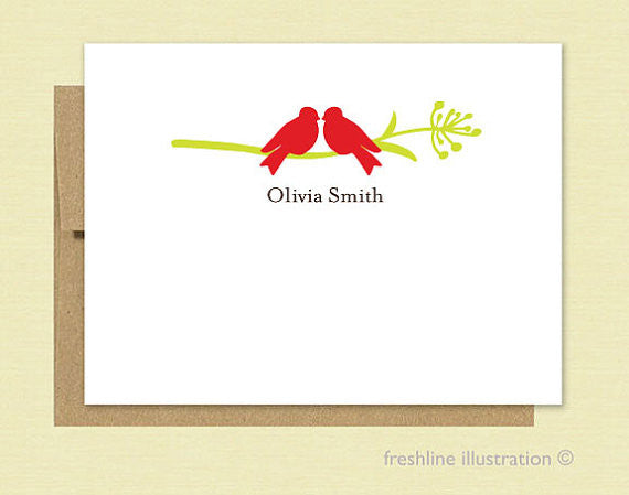 Love Birds Stationery Set - Freshline Illustration