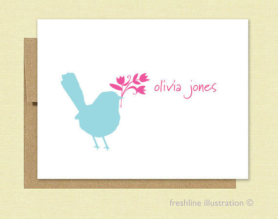 Bird Stationery Set - Freshline Illustration