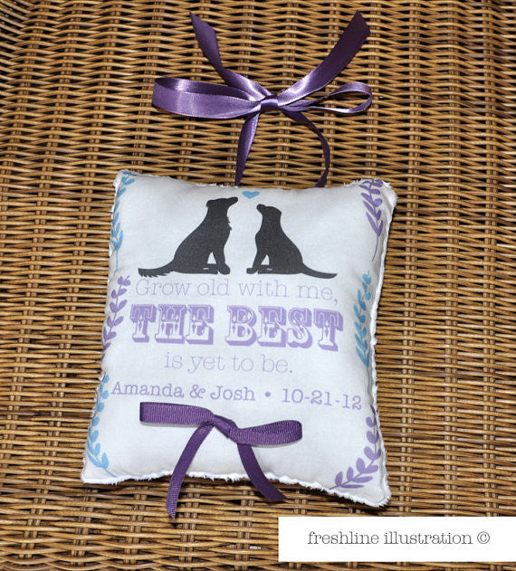 dog ring bearer pillow Thumbnail