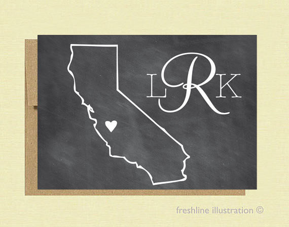 Custom State Personalized Stationery - Freshline Illustration