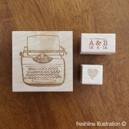 Wedding Stamp Set, Typewriter Thumbnail