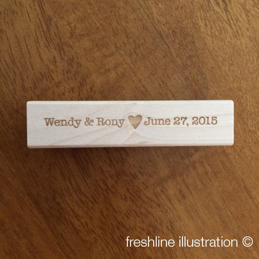 Custom Wedding Stamp, Wedding Ideas, Wedding DIY, Personalized