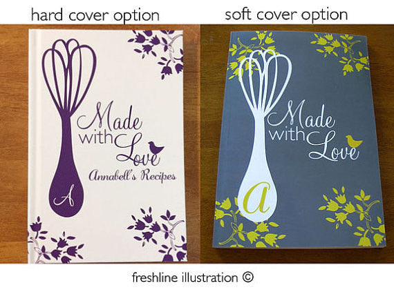 hand lettering custom recipe book personalized recipe book recipe book gift idea Thumbnail