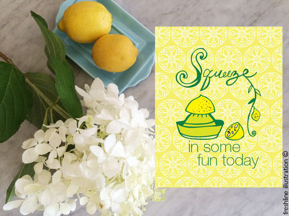 hand lettered print kitchen wall art funny kitchen art lemon art - Freshline Illustration